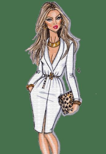 Woman Beige White - Bogusia