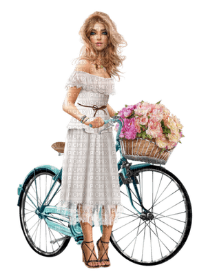 Kaz_Creations Woman Femme Bicycle Bike