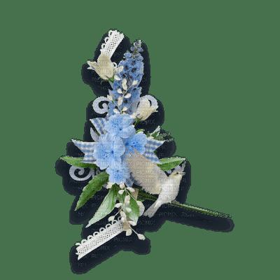 blue flowers fleur bleu deco