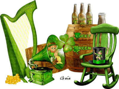 deko,tube, GIF, animation, scrapbooking, jour de St Patrick,adam64