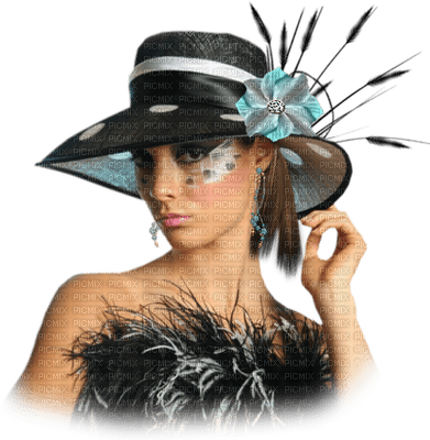 Kaz_Creations Woman Femme Black Hat