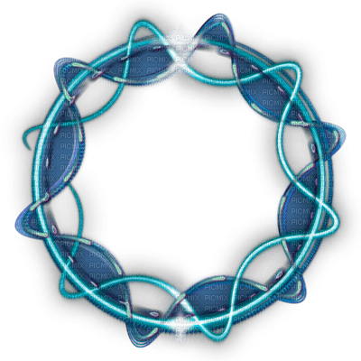 CADRE BLEU CERCLE BLUE CIRCLE FRAME