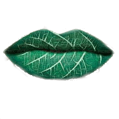 labios verdes