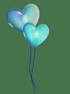 Kaz_Creations Blue Deco Heart Love  Balloons  Colours
