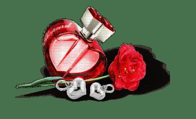 perfume Parfüm parfum flacon flower fleur deco tube red