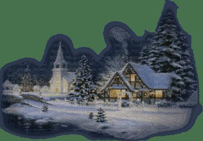 paysage d'hiver village