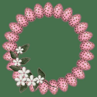 Kaz_Creations Deco Easter Flowers Circle Frames Frame  Colours