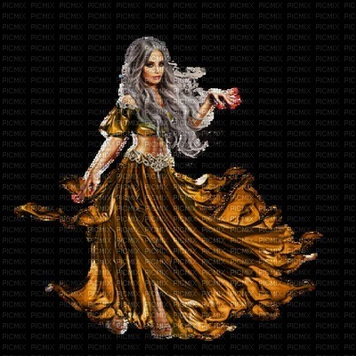 image encre couleur effet femme robe edited by me