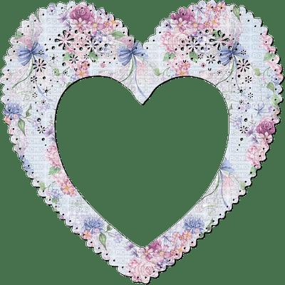 heart frame soft color cadre coeur