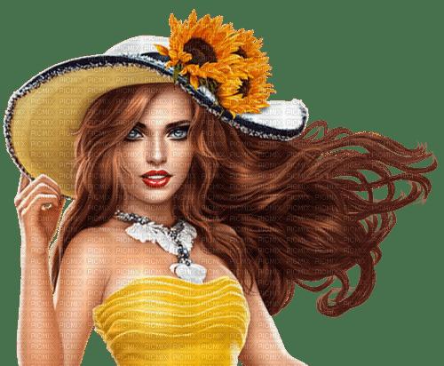 femme, -model-fashion, tournesols,Pelageya