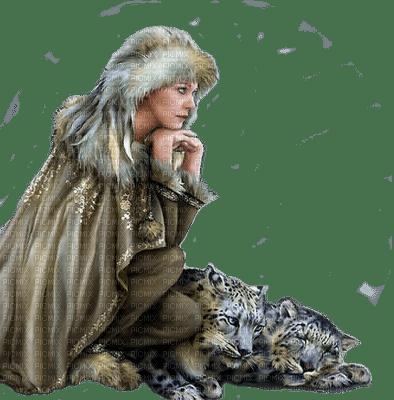 Kaz_Creations Woman Femme Winter Leopard