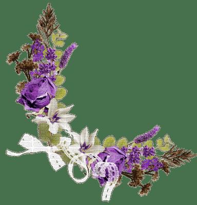 purple rose flower corner deco violet rose fleur coin