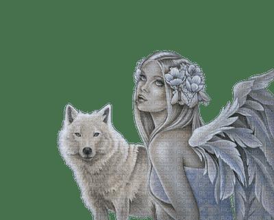 loup avec ange.Cheyenne63