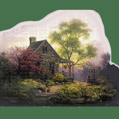 house forest maison forêt paysage