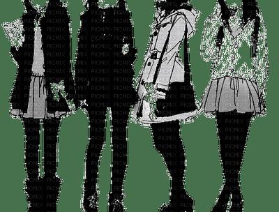 quatre filles blanc/noir
