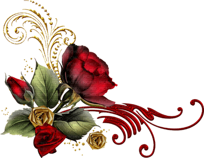 rose rouge fleur deco border roses red