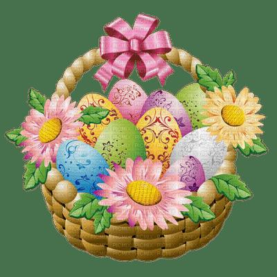 easter basket eggs deco paques panier oeufs