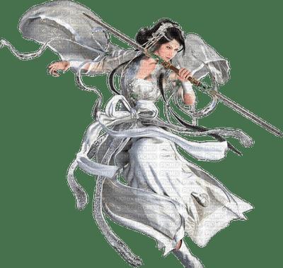 Femme guerrière ange asiatique