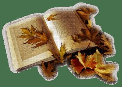 automne livre deco autumn book leaves