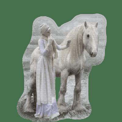 femme et son cheval