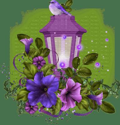 lantern with flowers deco lanterne