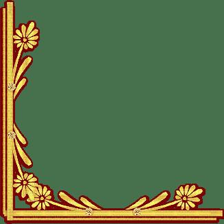 yellow deco frame