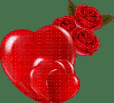 Kaz_Creations Deco Heart Love Hearts Flowers