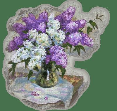 lilas fleurs blanc violet lilac vase
