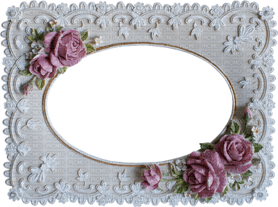 romantic pink frame rose deco