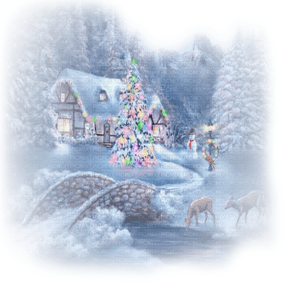 winter house christmas maison hiver noel