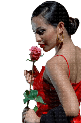 Kaz_Creations Woman Femme Red Flower