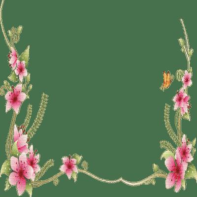 cadre fleur pink deco border flowers pink