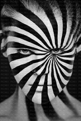art face white black lines lignes visage edited by me