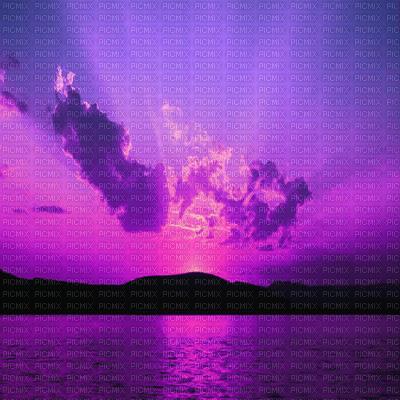 purple sunset transparent bg violet coucher de soleil fond
