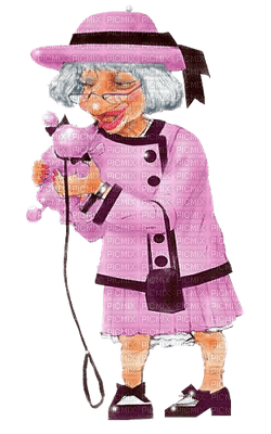 pink old woman