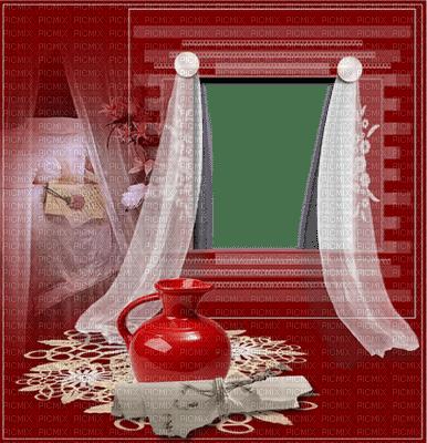 Room.Window.Bedroom.Red.Chambre.Fenêtre.cadre.Frame.Fond.Background.Curtain.rideau.cortina.DECO.Space.Stanza.Ventana.Victoriabea