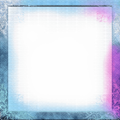 blue pink deco frame bleu pink cadre