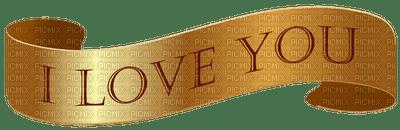 i love you gold banner