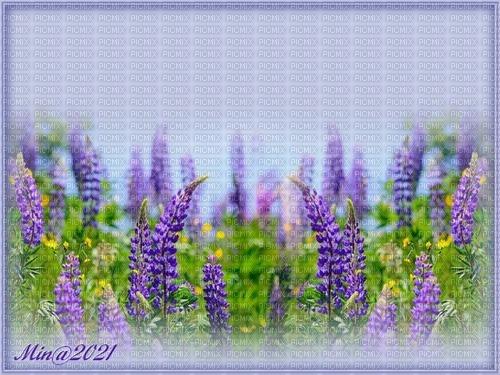 bg med blommor