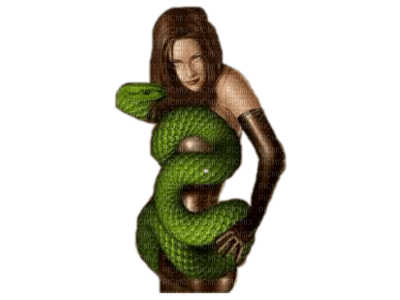 woman with snake bp