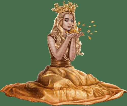 femme, reine,autumn, Pelageya