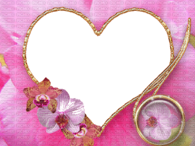 cadre coeur rose