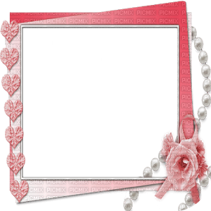 RED pink FRAME FLOWERS HEARTS rouge rose cadre fleurs coeur