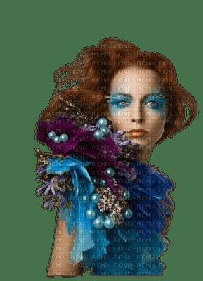 femme bleu woman blue