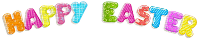 Kaz_Creations Easter Deco Text Logo Happy Easter