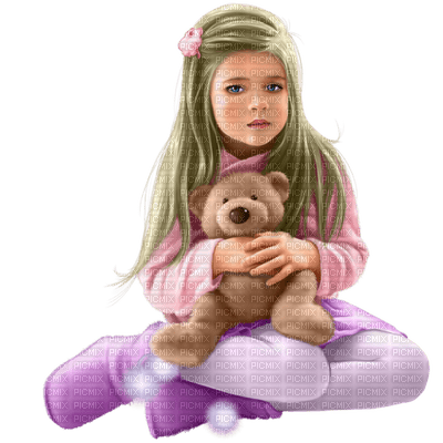 child girl teddy enfant filette ours en peluche