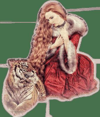 femme avec tigre.Cheyenne63