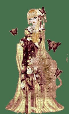 Jeune-fille aux Papillons