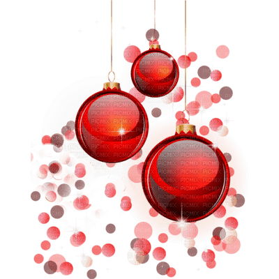 red christmas balls deco boules de noel