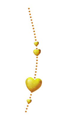 Kaz_Creations Deco Scrap Heart Dangly Things Hanging Yellow Colours